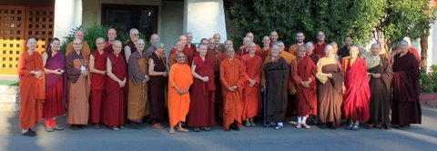 Western Buddhist Sangha members gathered in CDR, Sacramento, CA