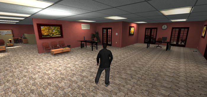 This is the receptions tutorial area. No post processing and real time shadows are off.