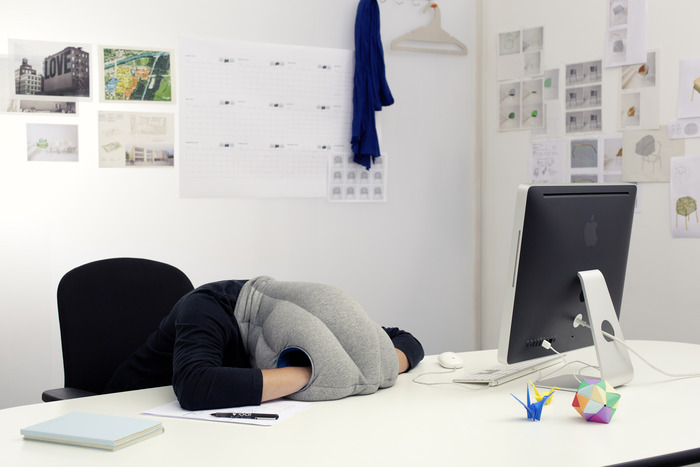 The Ostrich Pillow (photo courtesy of kawamura-ganjavian)