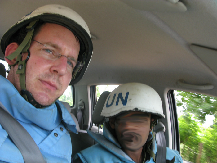 Self Portrait. UN Evacuation from Vanni. 16th September 2008