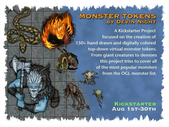 Monster Tokens by Devin Night