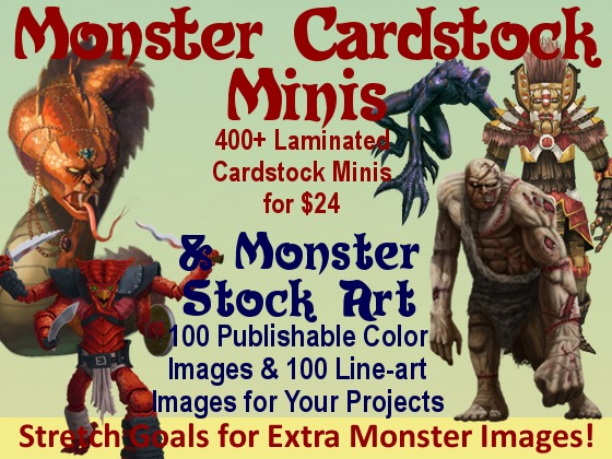 Monster Stock Art & Minis II