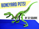 Boneyard Pets : Colorful Dinosaur Puzzles Made in Brooklyn