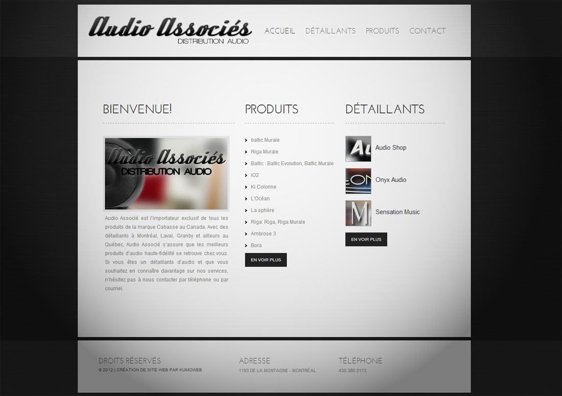 Audio associes project