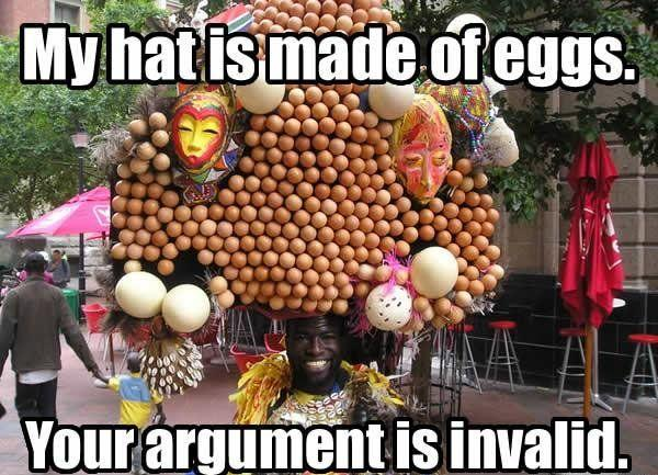 Your argument is invalid forum games off topic for The craft of argument