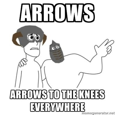 Arrows in the knee Arrows+I+made+some+funny+OC+once+then+I+took_baa555_2957222