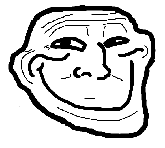 Excited Troll Face