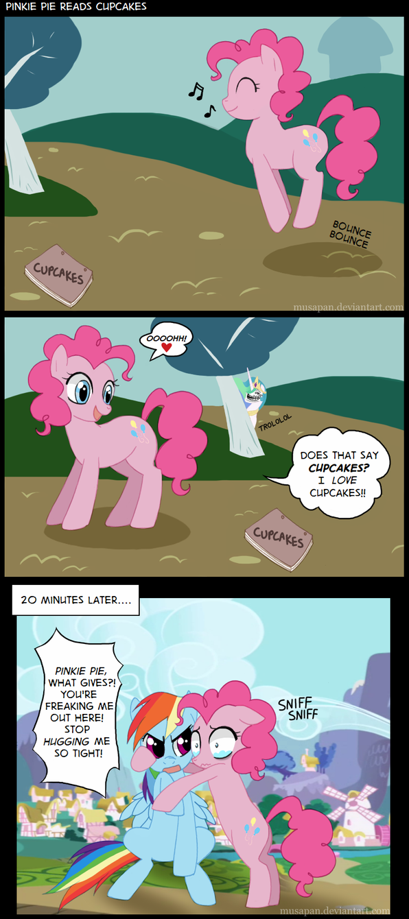 Random & Crazy Pictures - Page 6 Pinkie_pie_read_cupcakes_by_musapan-d41bb5n
