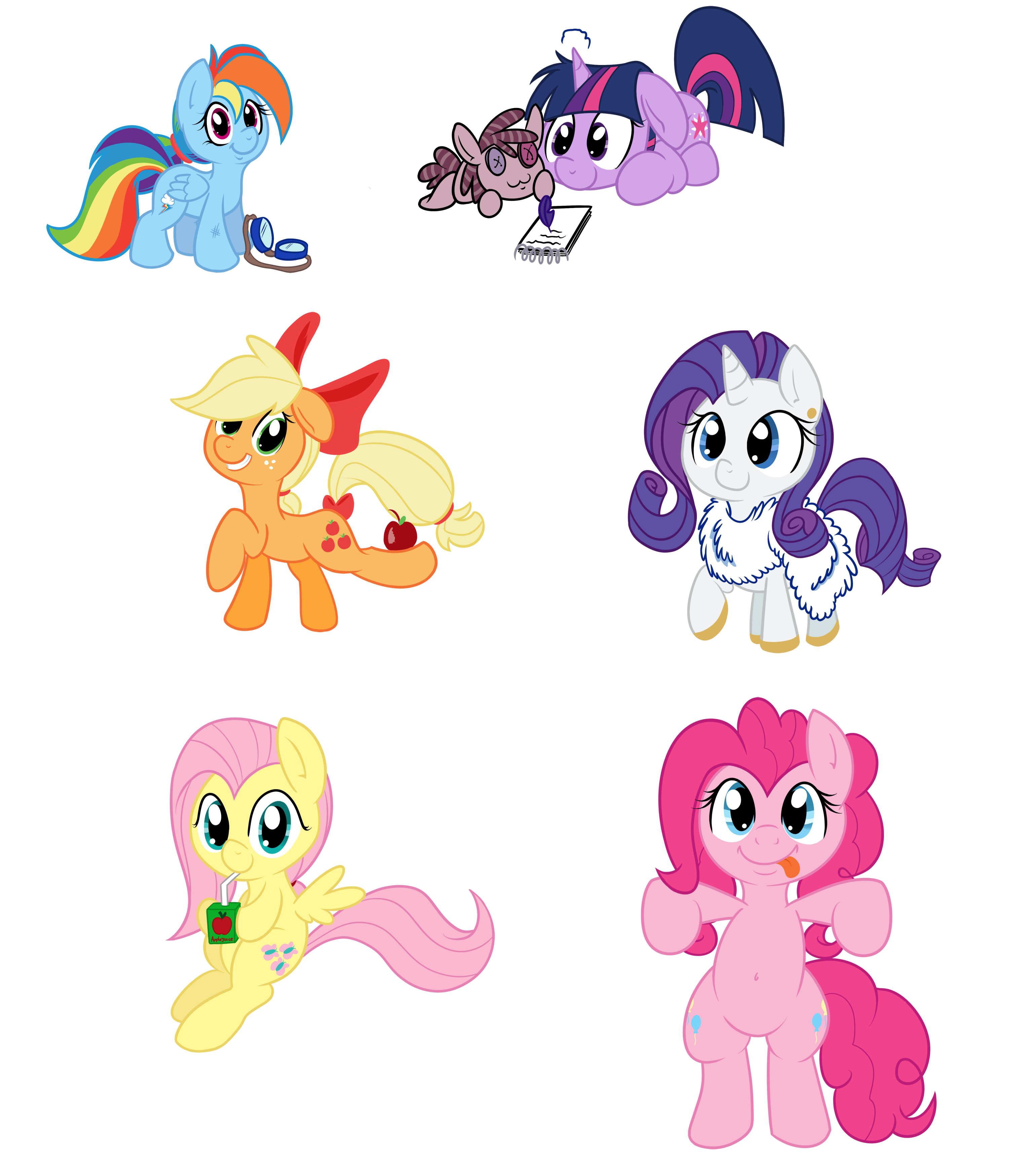 mlp fim meet the ponies rainbow