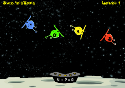 Alien Addends | Math Addends Game