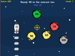 Astro Blaster   Rounding & Estimating to the Nearest 10, 100, 1000   Free Elementary Math Game