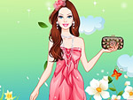 Cute Doll Engagement Party Dress Up
