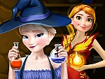 Elsa and Anna Superhero Potions