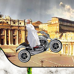 Pope Ride that Bike