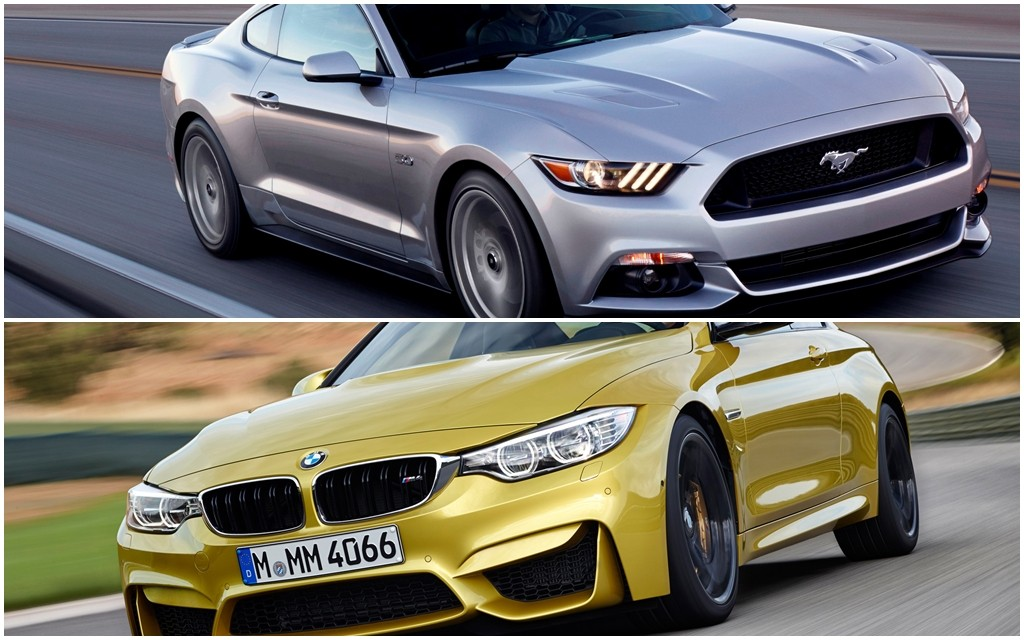2015 mustang gt vs bmw m4 motorbit ford mustang 2015 vs. Black Bedroom Furniture Sets. Home Design Ideas