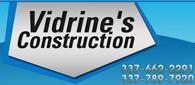 Website for Vidrine's Construction, LLC