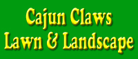 Website for Cajun Claws Lawn and Landscape, LLC.