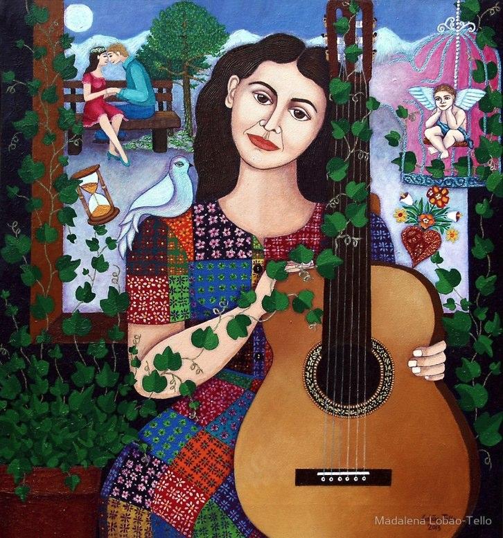 La imagen de homenaje de Google en su 100° aniversario — Violeta Parra