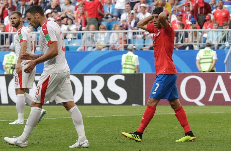 Gana Serbia con golazo a Costa Rica