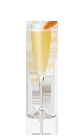 Glass of orange blossom cocktail