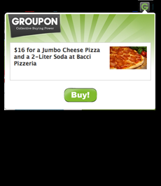 Groupon chrome extension icon