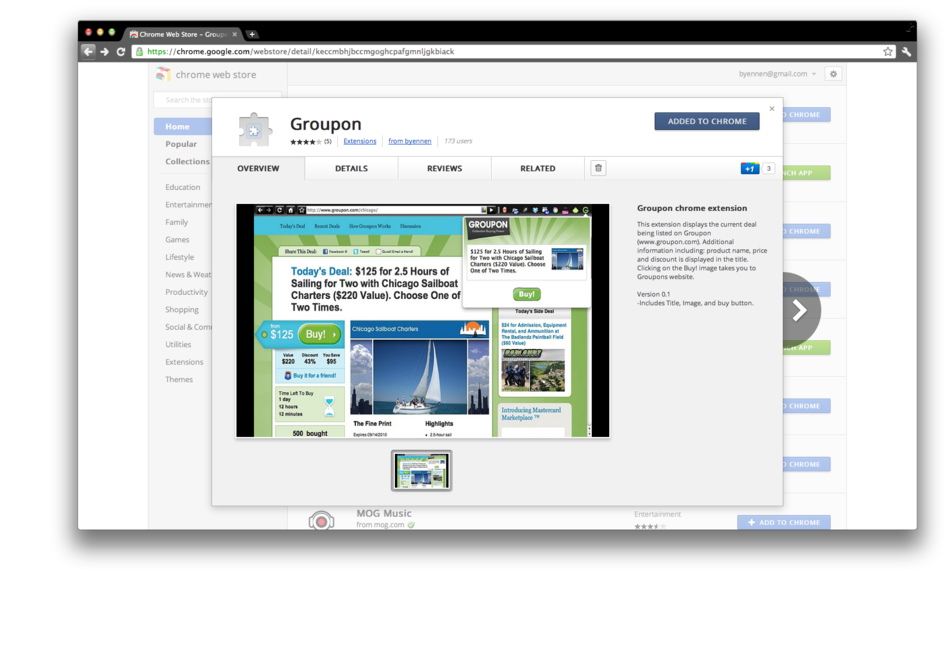 Groupon chrome extension 1