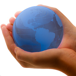 Have the world in the palm of your hands