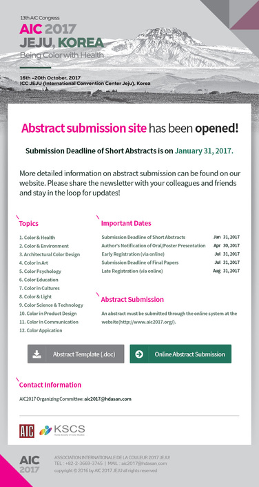 Abstract Submission Open