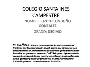 Colegio santa ines campestre lizeth londo%c3%b1o gonzalez ... decdimo