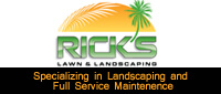 Website for Rick's Lawn & Landscaping, Inc.