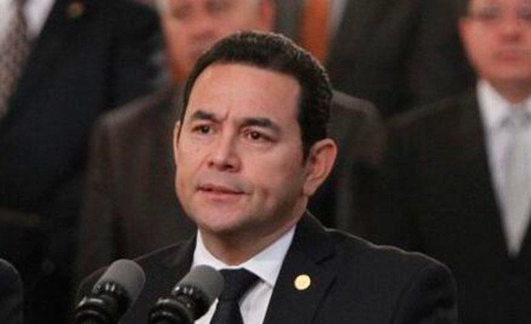 ONG guatemalteca pide investigar señalamientos a Jimmy Morales por violación