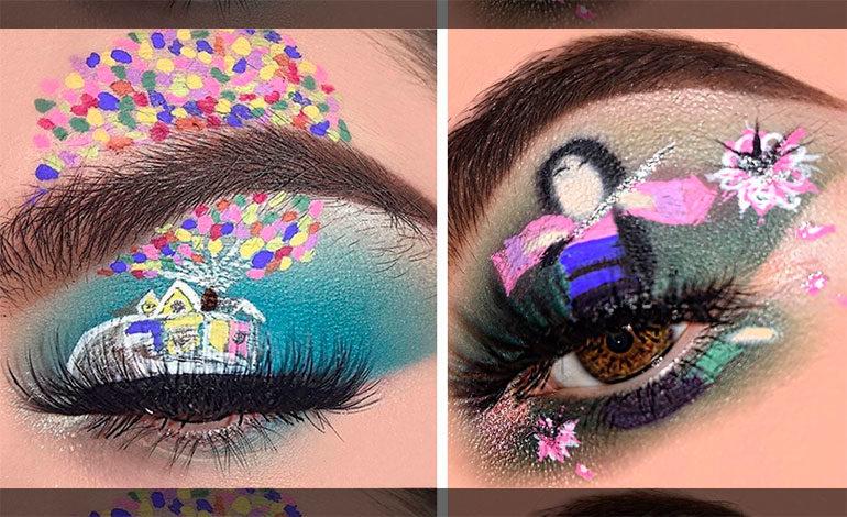 Esta chica se maquilla los ojos inspirada en sus películas favoritas y su talento es increíble ¿Qué te parece?