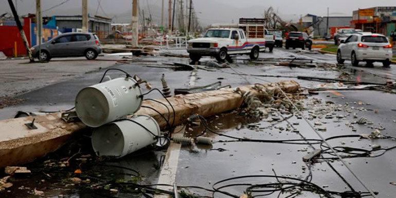 Todo Puerto Rico sigue sin energía eléctrica tras el paso de huracán María