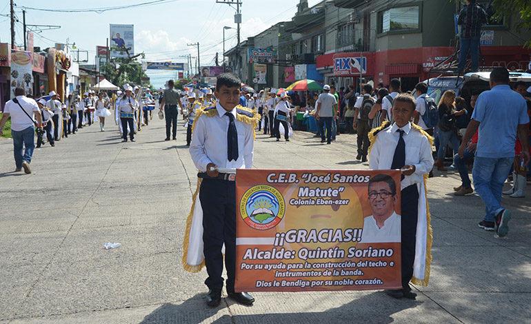 Varios centros de enseñanza mostraron su agradecimiento al alcalde Quintín Soriano por el apoyo que ha brindado a sus centros de estudios.