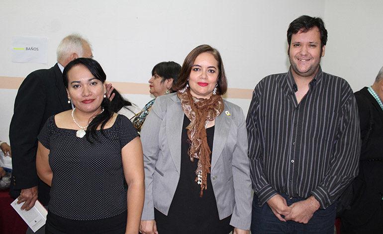 Hilcia Hernández, Melissa Merlo, Alberto Rolla.