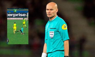 En Francia árbitro pega patada a jugador y lo expulsa