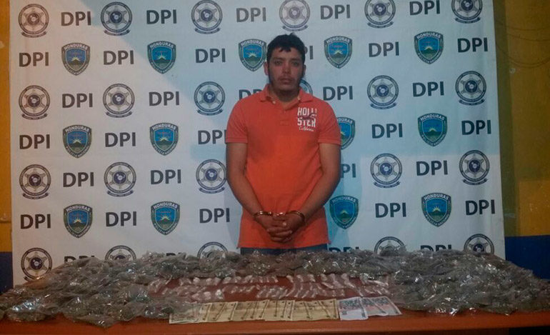 Detienen distribuidor de drogas en Intibucá