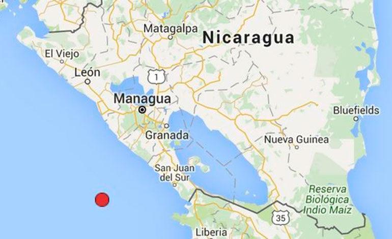 Sismo de magnitud 6 sacude el Pacífico de Nicaragua