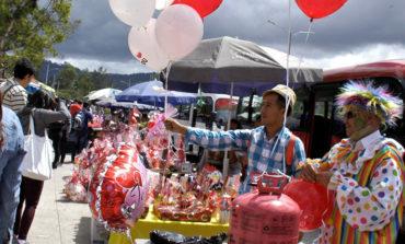 Rosas y globos lo más vendido el Día del Amor