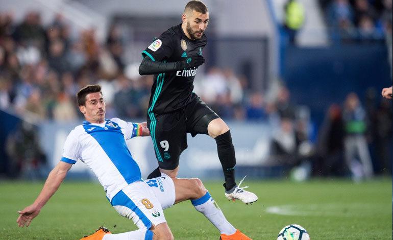 Real Madrid vence al Leganés y se pone tercero en la Liga