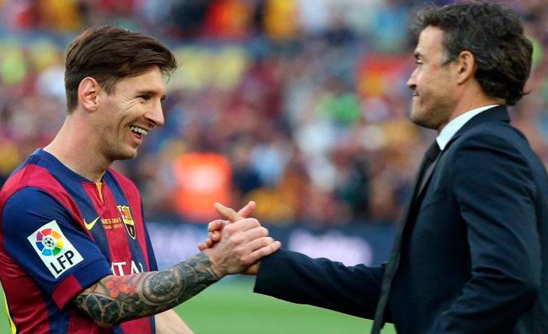 Luis Enrique: Dirigir a Messi es facilísimo