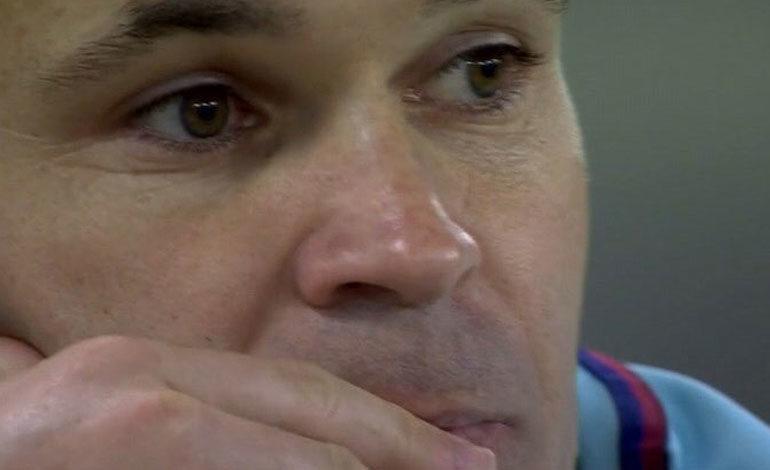 """Iniesta admite que caer así """"duele más"""" porque igual es su última' Champions'"""