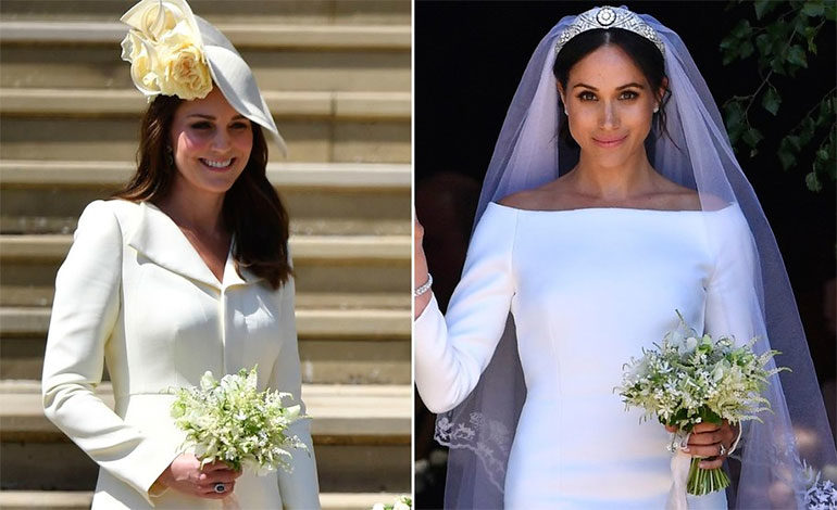Guerra de cuñadas: Kate Middleton en tono blanco en la boda real