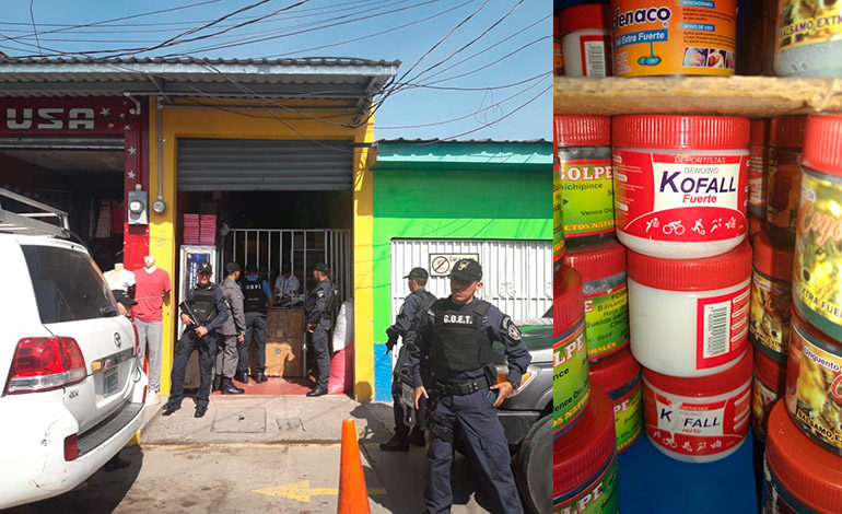 Fiscales le caen a laboratorio clandestino de medicinas y a lotería apuntada en Siguatepeque