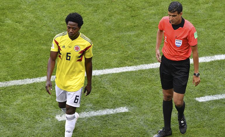 Colombiano Carlos Sánchez, primer expulsado del Mundial