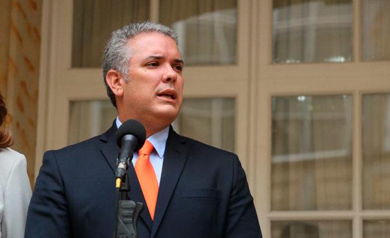 """Colombia: Duque dice que Trump apoya su """"agenda de lucha frontal contra narcotráfico"""""""