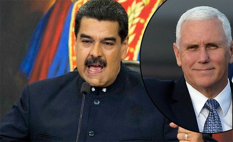 """Maduro llama """"culebra venenosa"""" a Pence y arremete contra la Unión Europea"""