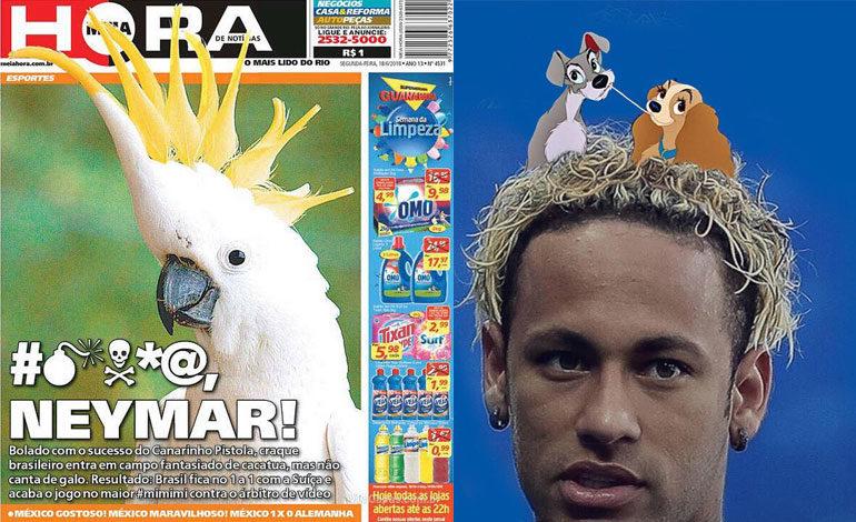 Prensa brasileña cuestiona debut y peinado de Neymar se vuelve meme
