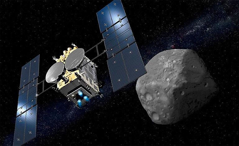 Sonda nipona alcanza un asteroide para tomar muestras y traerlas a la Tierra