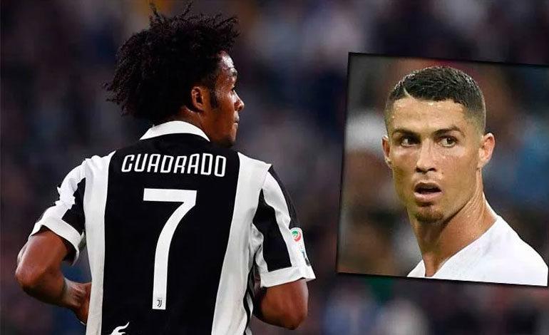 """Cuadrado cede sin """"problema"""" la camiseta 7 a Ronaldo en la Juve"""